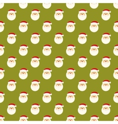 Abstract christmas santa clause face pattern vector