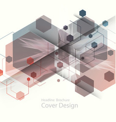 Abstract hexagon background for business web vector