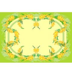 Abstract mimosa frame vector image