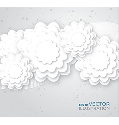 Abstract white flowers background vector