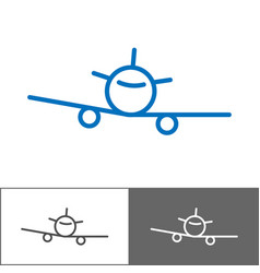 airplane logo template tourist company logotype vector image vector image