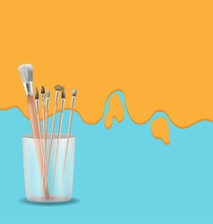 Art painting brush design background vector
