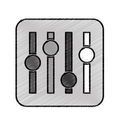 Audio control panel icon vector