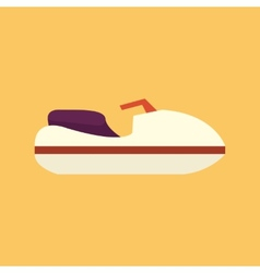 Boat transportation flat icon vector