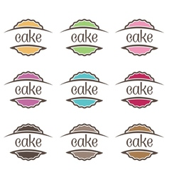 Cakes label vector