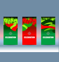 christmas new year background banner vector image vector image