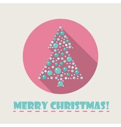 christmas tree flat icon vector image vector image