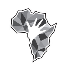creative african map vector image