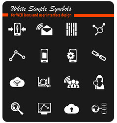 Data analytic icon set vector