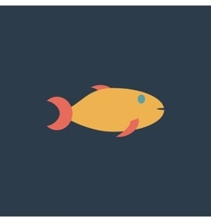 Fish icon on background vector image vector image