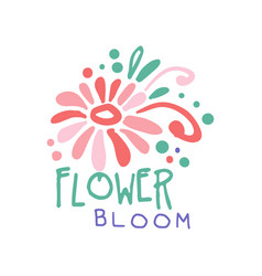 flower bloom logo template element for floral vector image vector image