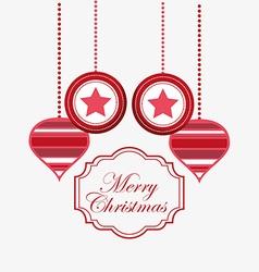 happy merry christmas design vector image