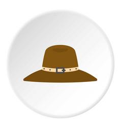 Hat icon circle vector