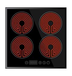 Kitchen - ceramic hob household appliances vector