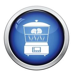 Kitchen steam cooker icon vector