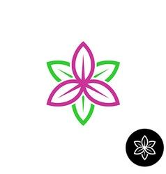 Leaves flower logo vector image vector image