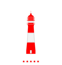 lighthouse it is icon vector image