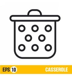 Line icon casserole vector