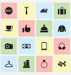 set of 16 editable trade icons includes symbols vector image vector image
