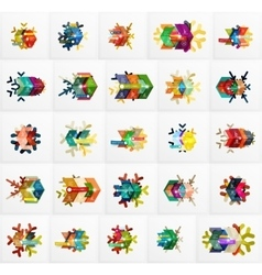 Set of Christmas Snowflake Banner Templates vector image vector image