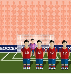 South korea soccer club penalty on stadium vector