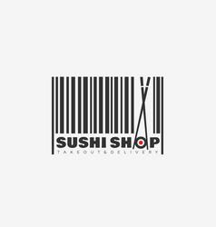 sushi shop logo vector image
