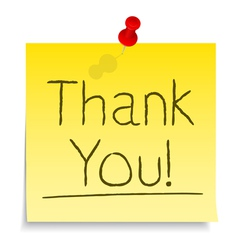 Thank You Post-it Note vector image vector image