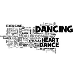 Why dance lessons are good for your heart text vector