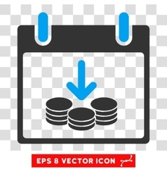 Coins income calendar day eps icon vector