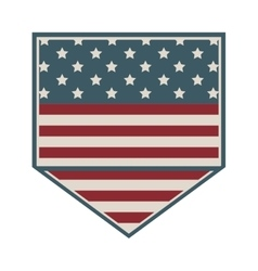 Square shape of shield with american flag icon vector