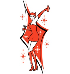 Pin up she devil vector