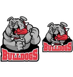 bulldog mascot vector image