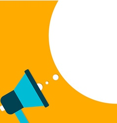 Megaphone with speach bubble flat design vector