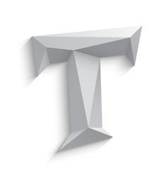 3d letter t on white vector