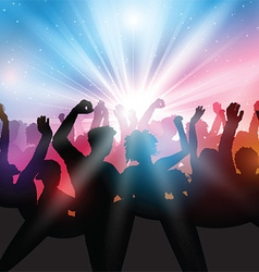 Party crowd background vector image