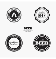 Sweet beer labels vector