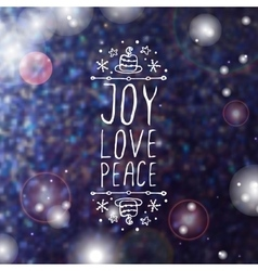Joy love peace - typographic element vector