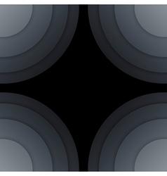 Abstract dark grey paper circles background vector