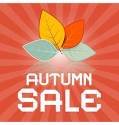 Autumn Sale Retro with Leaves vector image vector image