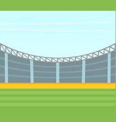 Background of football stadium flat design vector