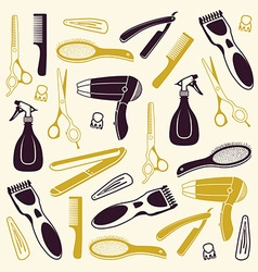 Barber Seamless Background vector image