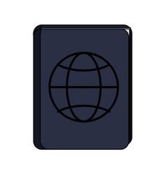 Blue passport icon image vector
