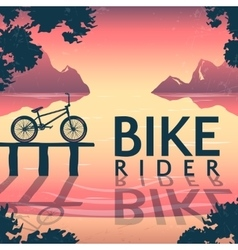 BMX Bike Riding Poster vector image vector image