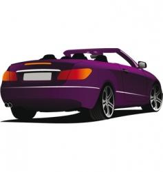 cabriolet car vector image vector image