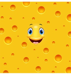 Cartoon cheese smiling vector