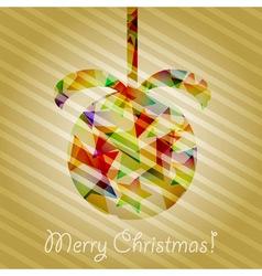 christmas tree ball vector image vector image