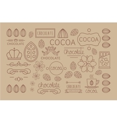 Cocoa Icon logo Signs and Badges vector image