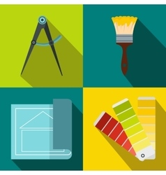 Construction banners set flat style vector image vector image