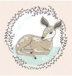Cute little deer vector image