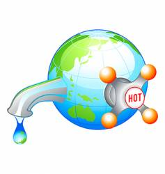 eco water icon vector image vector image